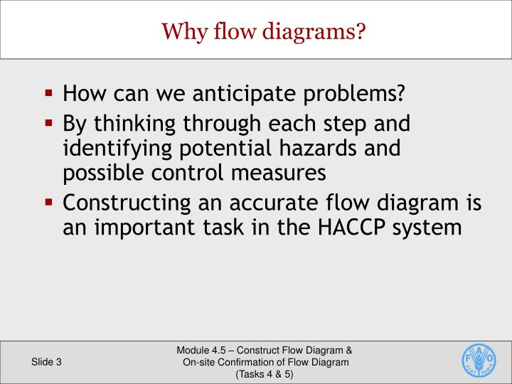 Why flow diagrams