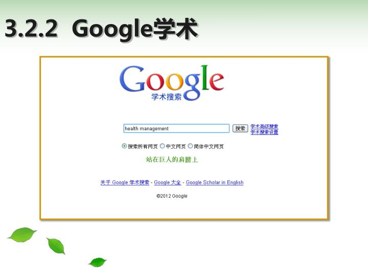 3.2.2  Google