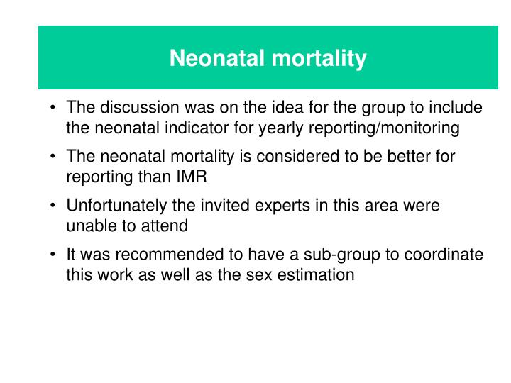 Neonatal mortality