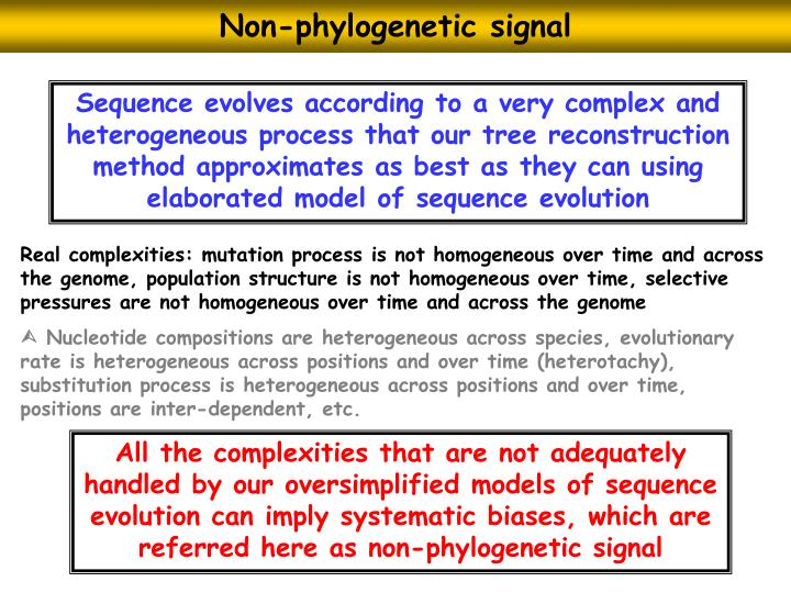 Non-phylogenetic signal