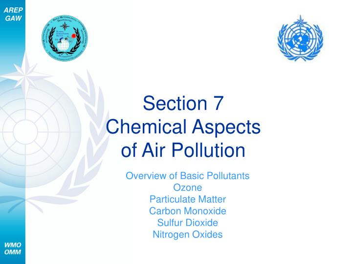 section 7 chemical aspects of air pollution n.