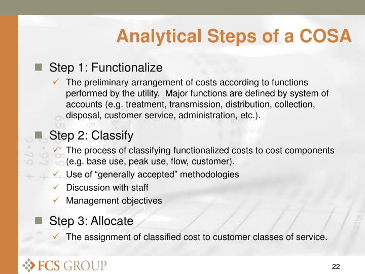 Analytical Steps of a COSA