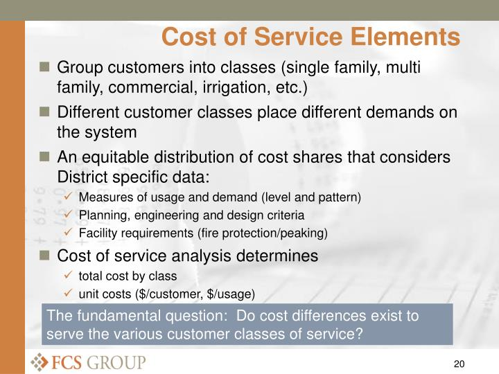 Cost of Service Elements