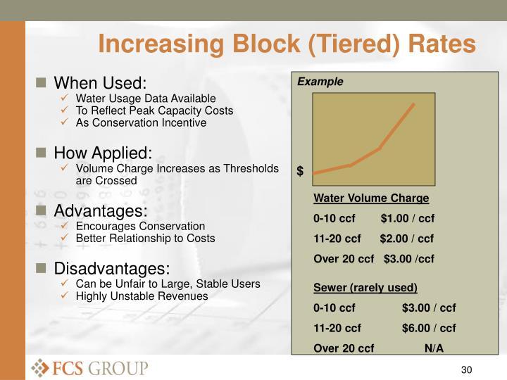 Increasing Block (Tiered) Rates