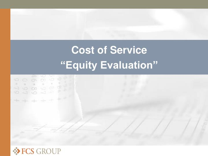Cost of Service