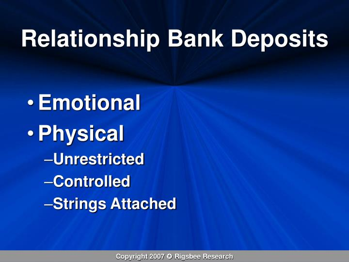 Relationship Bank Deposits