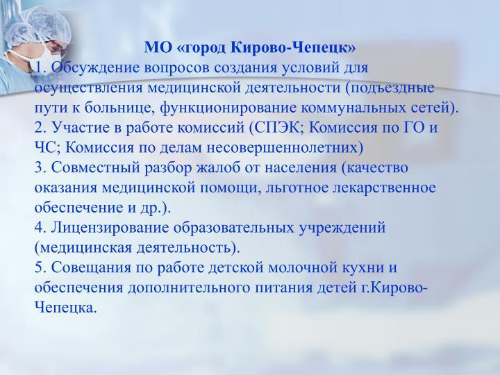 МО «город Кирово-Чепецк»