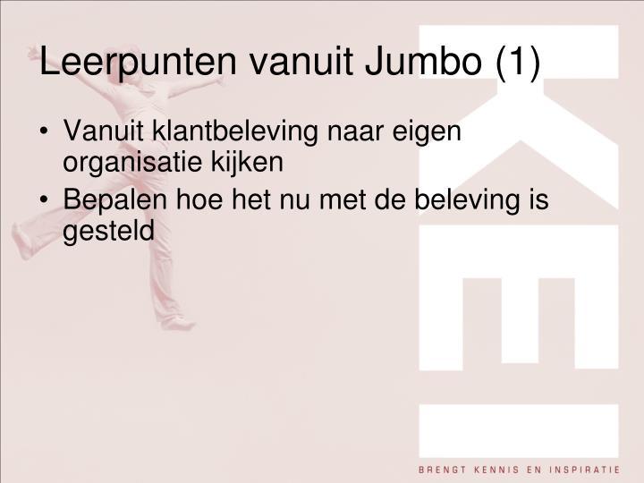 Leerpunten vanuit Jumbo (1)