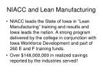 niacc and lean manufacturing