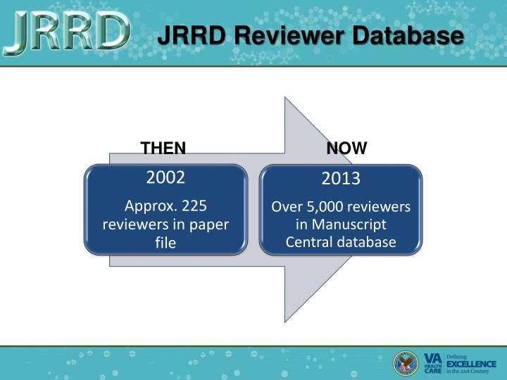 JRRD Reviewer Database