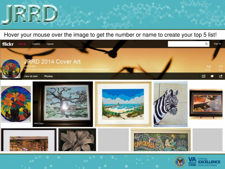 Hover your mouse over the image to get the number or name to create your top 5 list!