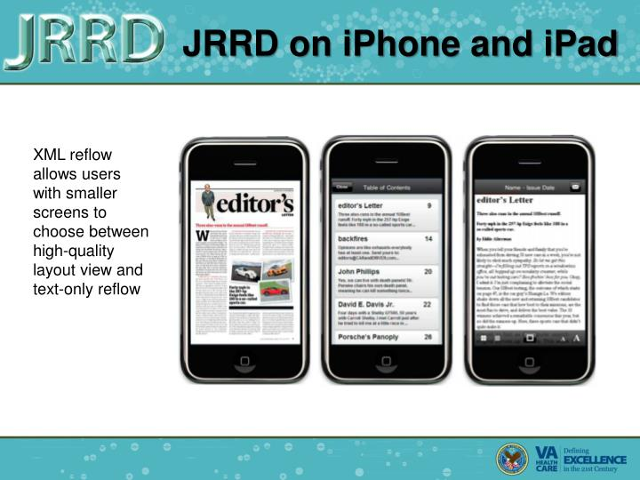 JRRD on iPhone and