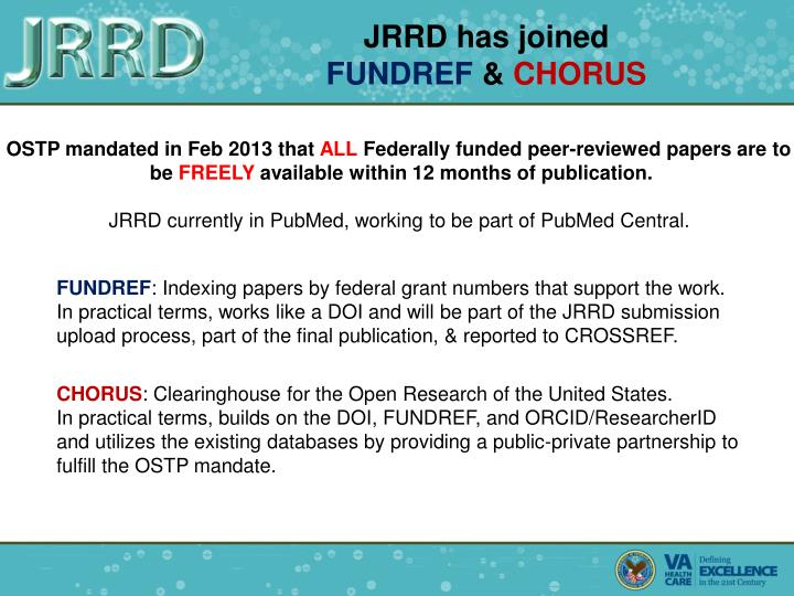 JRRD has joined