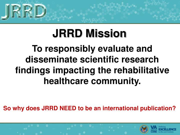 JRRD Mission
