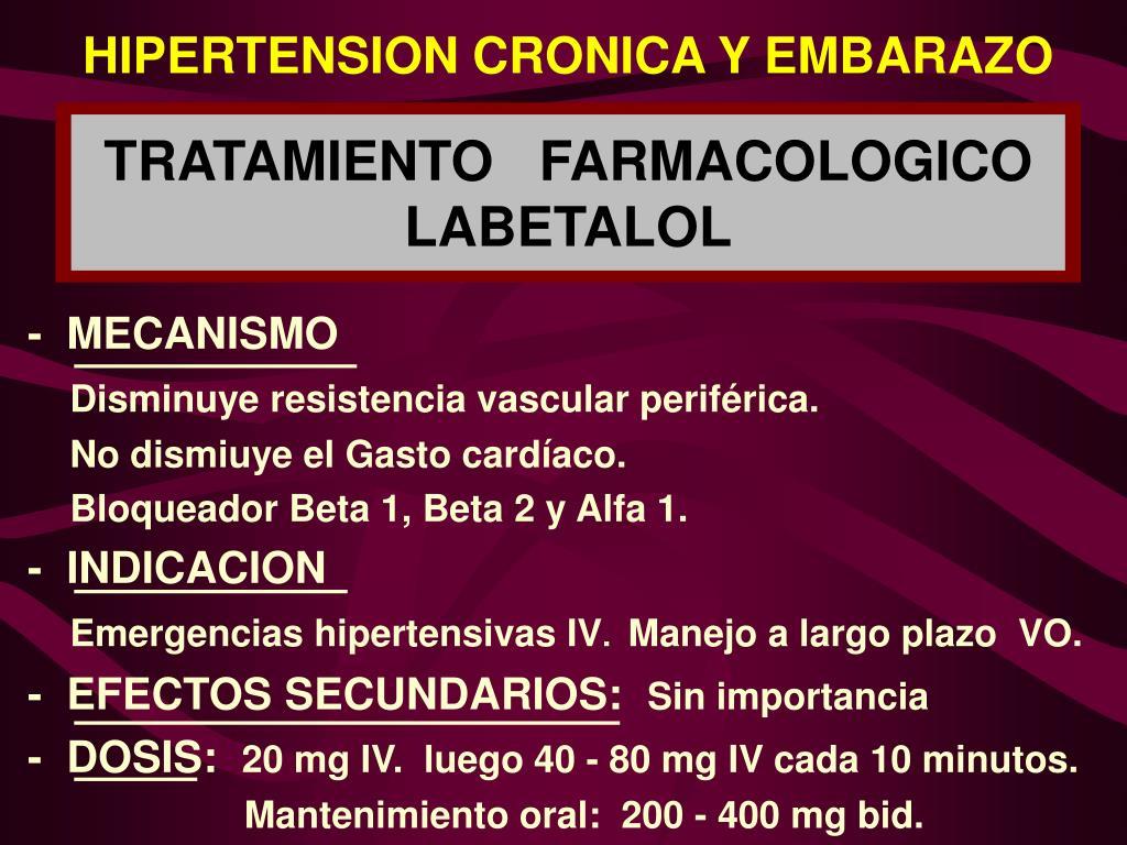 Hipertensión en el manejo del embarazo
