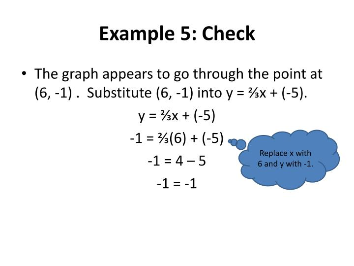 Example 5: Check