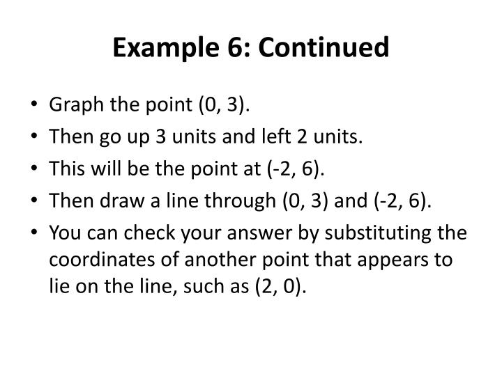 Example 6: Continued