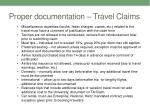 proper documentation travel claims1