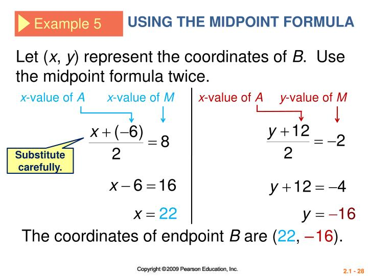 USING THE MIDPOINT FORMULA