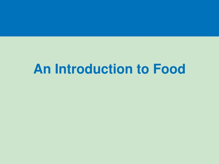 an introduction to food n.