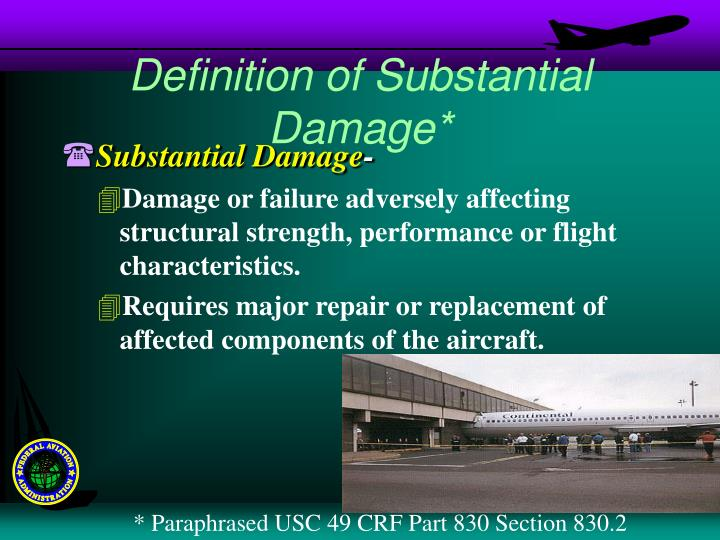 Definition of Substantial Damage*