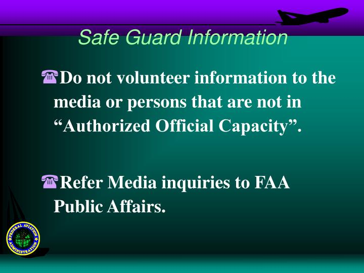 Safe Guard Information