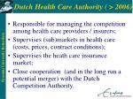 dutch health care authority 2006