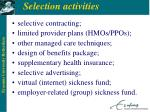 selection activities