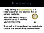 timely learning