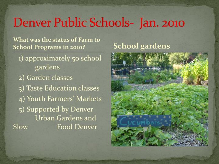 Denver public schools jan 2010