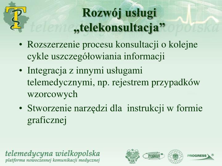 """Rozwój usługi """"telekonsultacja"""""""