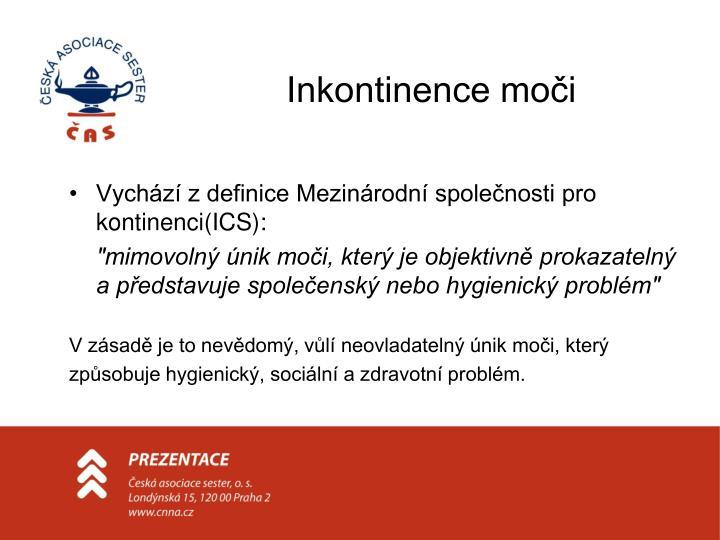 Inkontinence moči