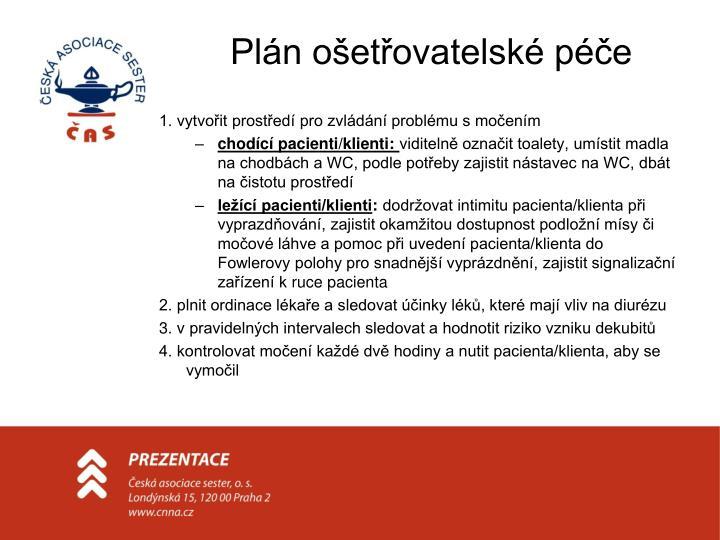 Plán ošetřovatelské péče