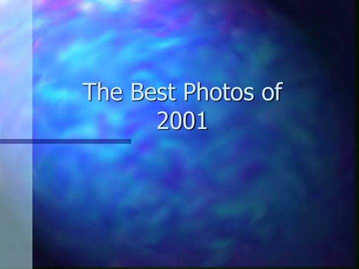 The best photos of 2001