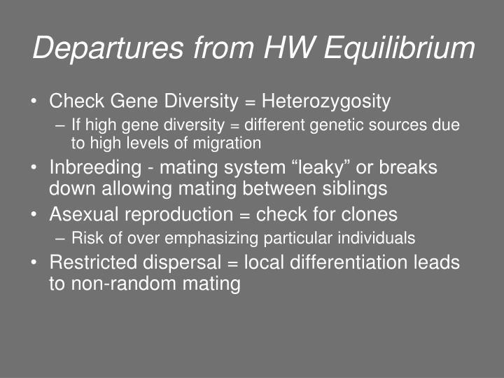 Departures from HW Equilibrium