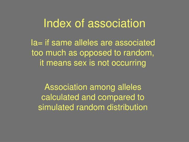 Index of association