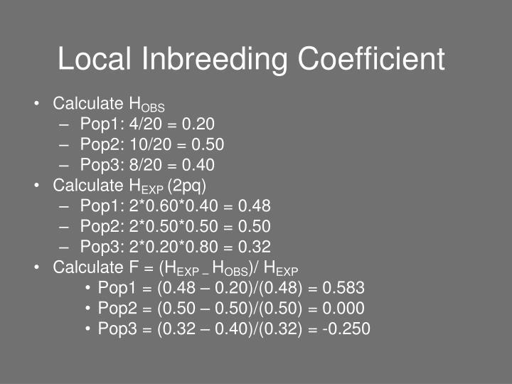 Local Inbreeding Coefficient