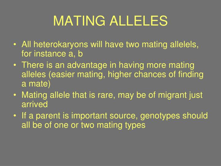 MATING ALLELES