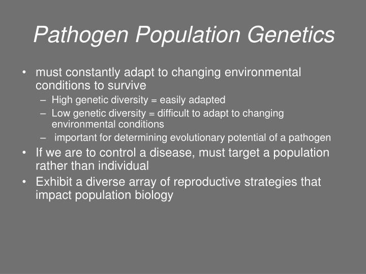 Pathogen Population Genetics