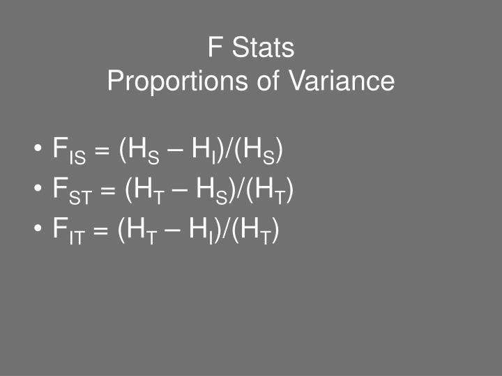 F Stats