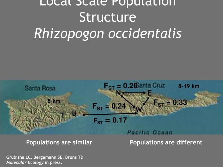 Local Scale Population Structure