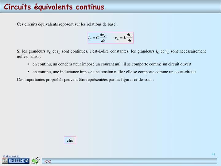 Circuits équivalents continus