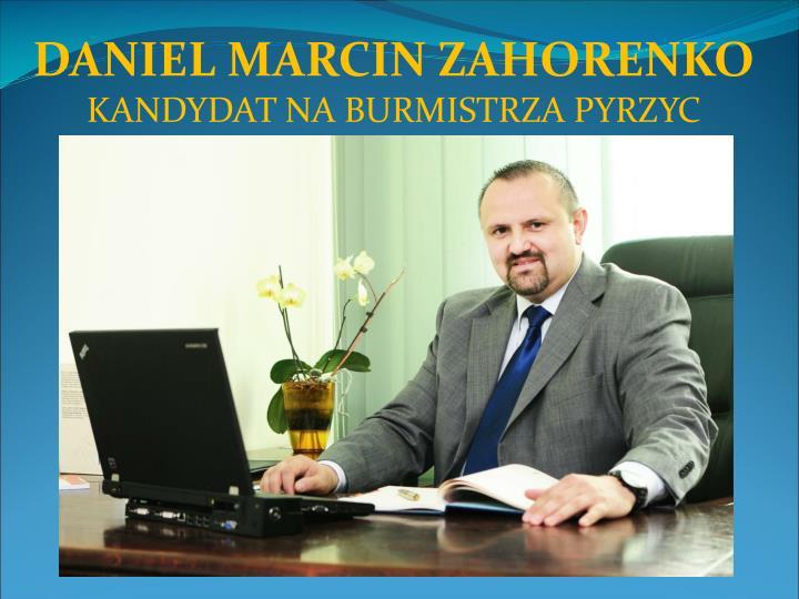 DANIEL MARCIN ZAHORENKO