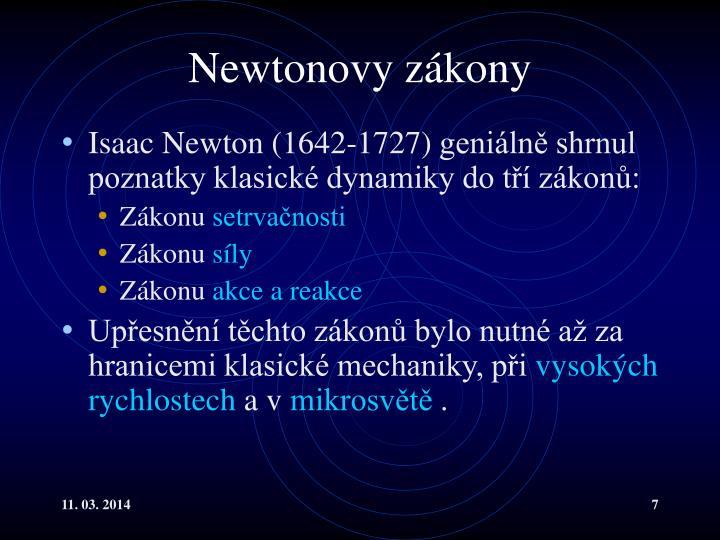 Newtonovy zákony