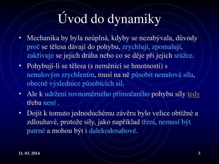 Vod do dynamiky