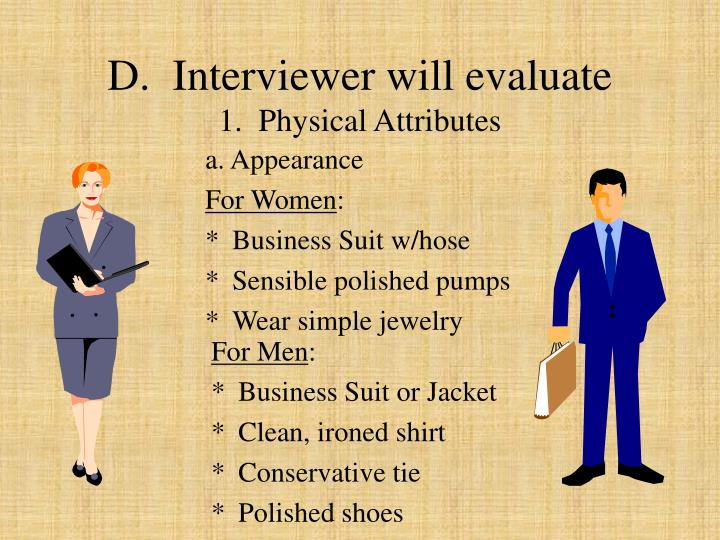 D.  Interviewer will evaluate