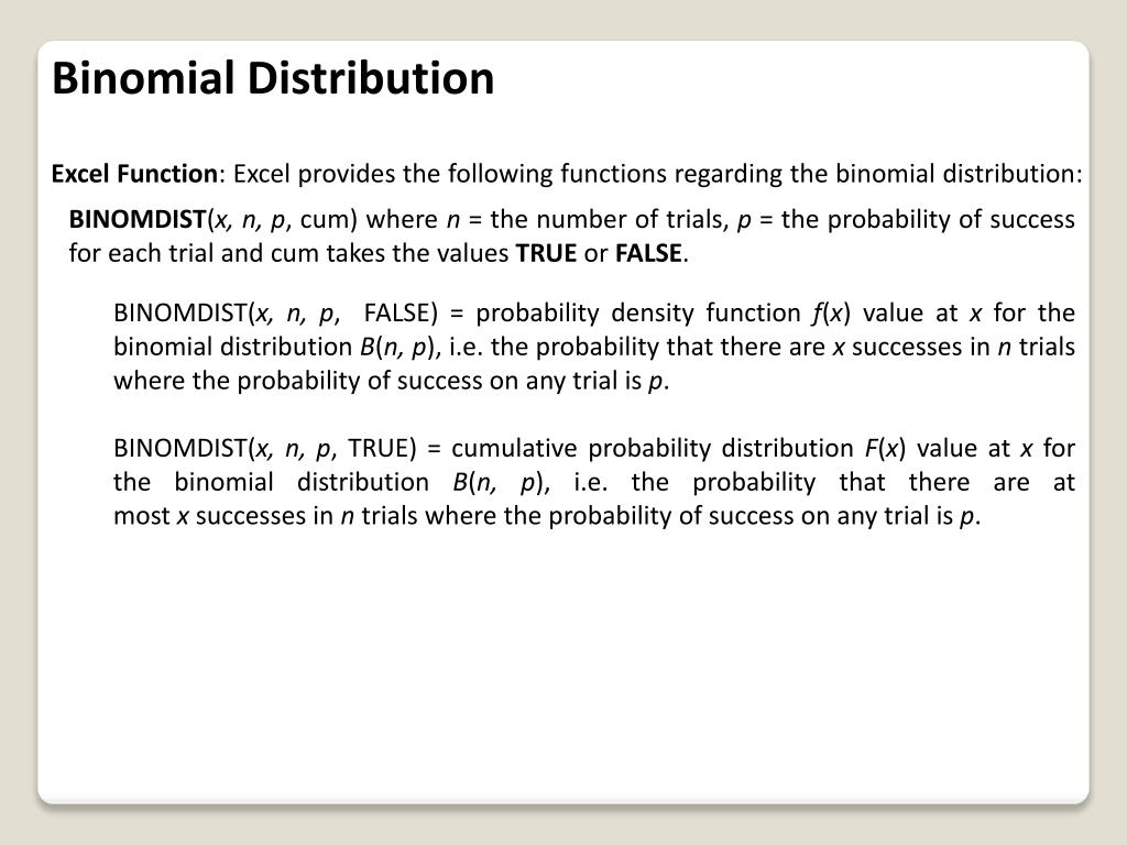 PPT - Binomial and Related Distributions PowerPoint Presentation