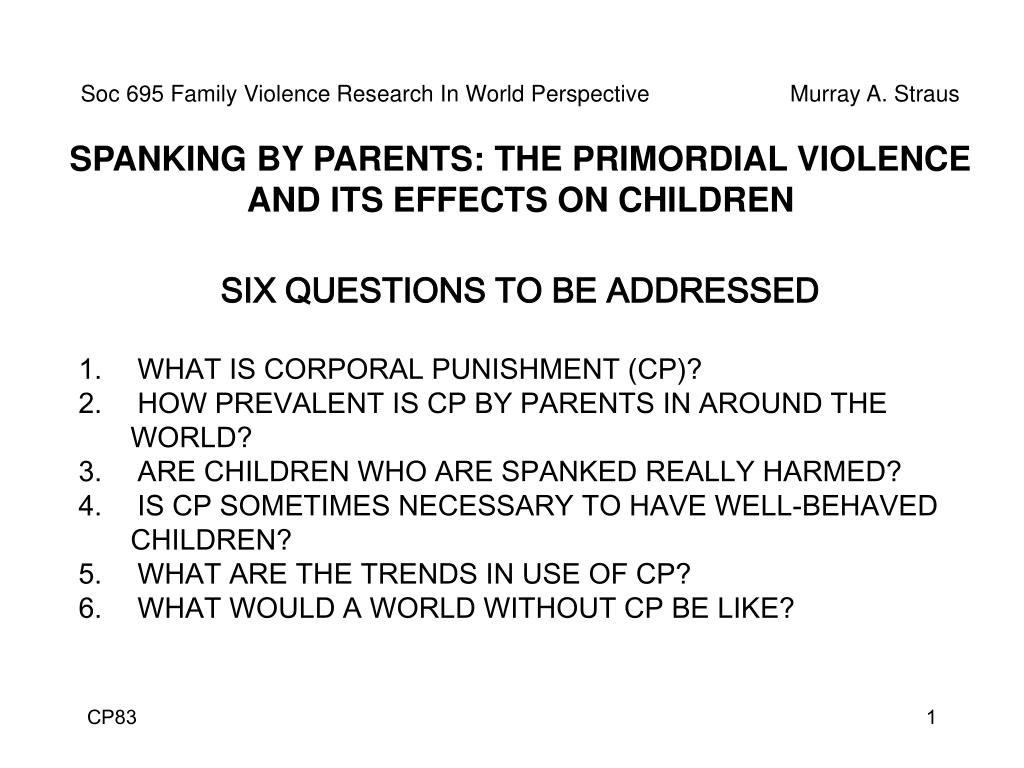 corporal punishment research