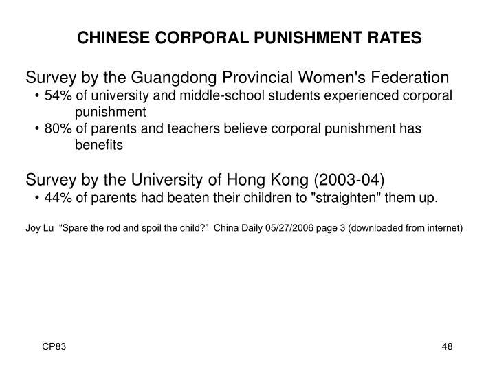 benefits of corporal punishment