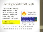 learning about credit cards1